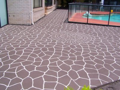 Transform Your Garden Path By Using Concrete Stencils.