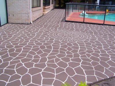 Transform Your Garden Path By Using Concrete Stencils.